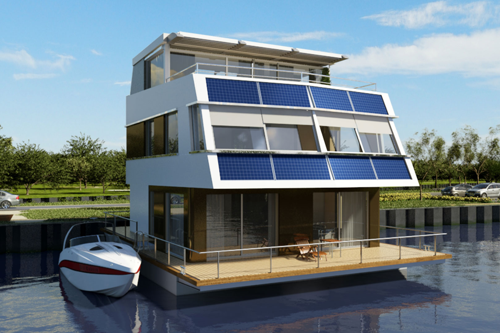 hausboote und schwimmende h user floating 160 kaufen berlin humboldtinsel. Black Bedroom Furniture Sets. Home Design Ideas